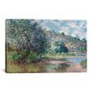 iCanvas 'Paysage a Port-Villez 1885' by Claude Monet Painting Print on Canvas