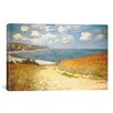 iCanvas 'Path Through the Corn at Pourville' by Claude Monet Painting Print on Wrapped Canvas