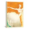 iCanvas 'Orange Splash Ballerina' by Anderson Design Group Painting Print on Canvas