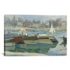 iCanvas 'Peniches a Asnieres 1873' by Claude Monet Painting Print on Canvas