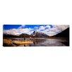 iCanvas Panoramic Mountain Bikers Vermilion Lakes Alberta Canada Photographic Print on Canvas