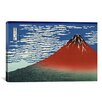 iCanvas 'Mount Fuji in Clear Weather (Red Fuji) 1930' by Katsushika Hokusai Painting Print on Canvas
