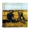 "iCanvas ""Peasant and Peasant-Woman Planting Potatoes"" Canvas Wall Art by Vincent van Gogh"