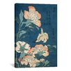 iCanvas 'Peonies and Canary' by Katsushika Hokusai Painting Print on Canvas
