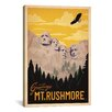 iCanvas Anderson Design Group  'Mt. Rushmore' Vintage Advertisement on Canvas