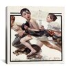 iCanvas 'No Swimming' by Norman Rockwell Painting Print on Canvas