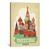 iCanvas Moscow, Russia by Anderson Design Group Vintage Advertisement on Canvas