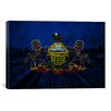 iCanvas Pennsylvania Flag, Grunge Scranton Train Yard Graphic Art on Canvas
