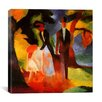 iCanvas 'People by a Blue Lake' by August Macke Painting Print on Canvas