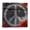 iCanvas USA Flag Peace Sign, Boards Graphic Art on Canvas