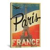 iCanvas Anderson Design Group 'Paris, France' Vintage Advertisement on Canvas