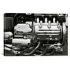 iCanvas Cars and Motorcycles 'Engine Grayscale' Photographic Print on Canvas