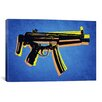 iCanvas 'MP5 Sub Machine Gun' by Michael Tompsett Graphic Art on Canvas