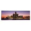 iCanvas Panoramic Night Skyline Detroit Michigan Photographic Print on Canvas