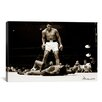 "iCanvas ""Muhammad Ali Vs. Sonny Liston, 1965"" Photographic Print on Wrapped Canvas"