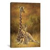 """iCanvas """"Decorative Mother and Son (Giraffe)"""" by Lucie Bilodeau Painting Print on Canvas"""