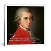 iCanvas Mozart Quote Canvas Wall Art