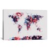 iCanvas 'World Map Paint Drops II' by Michael Tompsett Painting Print on Canvas