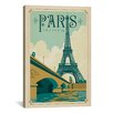 "iCanvas Anderson Design Group  ""WT Paris 1001A""Vintage Advertisement on Canvas"