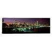 iCanvas Panoramic Night Skyline Chicago Illinois Photographic Print on Canvas