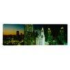 iCanvas Panoramic Night Chicago, Illinois Photographic Print on Canvas
