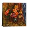 "iCanvas ""Pitcher (Vase) of Flowers"" by Pierre-Auguste Renoir Canvas Painting Print"