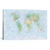 iCanvas 'World Map III' by Michael Tompsett Graphic Art on Canvas