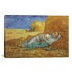iCanvas 'Noon Rest (After Millet) 1889-1890' by Vincent Van Gogh Painting Print on Canvas