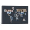 iCanvas 'World Map in Words' by Michael Tompsett Textual Art on Canvas
