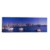 iCanvas Panoramic 'Sailboats in the Bay, San Diego, California, 2010' Photographic Print on Canvas