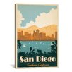 "iCanvas ""San Diego, California"" by Anderson Design Group Vintage Advertisement on Canvas"
