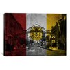 iCanvas San Diego Flag, Gaslamp Quarter with Grunge Graphic Art on Canvas