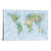 iCanvas 'World Map VI' by Michael Tompsett Graphic Art on Canvas