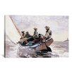 iCanvas 'Sailing the Catboat 1873' by Winslow Homer Painting Print on Canvas