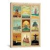 iCanvas Anderson Design World Memorabilia on Canvas