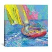iCanvas Sailboat by Richard Wallich Painting Print on Canvas