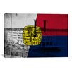 iCanvas Memphis, Tennessee Flag - Grunge River Boat Memphis Flyer Graphic Art on Canvas