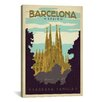 iCanvas 'Sagrada Familia - Barcelona, Spain' by Anderson Design Group Vintage Advertisement on Canvas