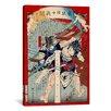iCanvas Japanese Men Wrestling Woodblock Painting Print on Canvas
