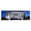 iCanvas Panoramic Memorial Lit up at Night Lincoln Memorial, Washington, D.C. Photographic Print on Canvas