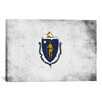 iCanvas Massachusetts Flag, Grunge Painted Graphic Art on Canvas