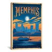 iCanvas 'Memphis, Tennessee' by Anderson Design Group Vintage Advertisment on Canvas