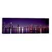iCanvas Panoramic 'Miami Skyline Cityscape Night' Photographic Print on Canvas