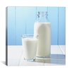 iCanvas Milk Glass and Bottle on Counter Photographic
