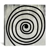 iCanvas Modern Art Mid Century Swirl Painting Print on Wrapped Canvas