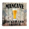 """iCanvas """"Mancave III"""" by Mindy Sommers Vintage Advertisement on Canvas"""
