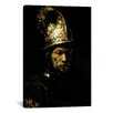 iCanvas 'Man with Helmet' by Rembrandt Painting Print on Canvas
