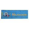 iCanvas Milwaukee Flag, Brick Wall Graphic Art on Canvas