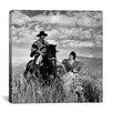 "iCanvas ""Maria Vial de Prieto Petting Gaucho's (Huaso) Horse ""Prique, in a Wheat Field in Chile"" Cancas Wall Art by Toni Frissell"