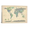 iCanvas 'Map of The World VI' by Michael Tompsett Graphic Art on Canvas